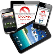 Blocking For Mobile Devices